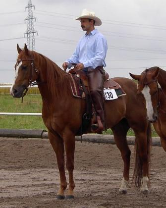 JimBob July2002- on his first western show with his trainer!!